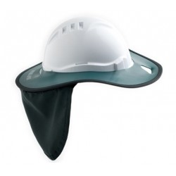 Brim Hard Hat Plastic Green