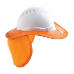 Brim Hard Hat Plastic Orange