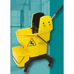 Bucket w/Press Wringer Yellow